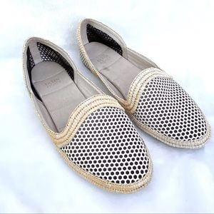 Eileen Fisher Perforated Cream Slip On Loafers